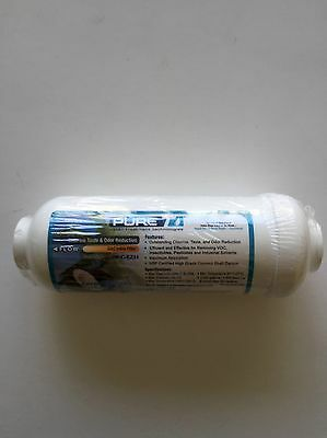 """REVERSE OSMOSIS 6 X 2 IN-LINE CARBON FILTER 3/8"""" QUICK CONNECT ENDS - 18 Filters"""
