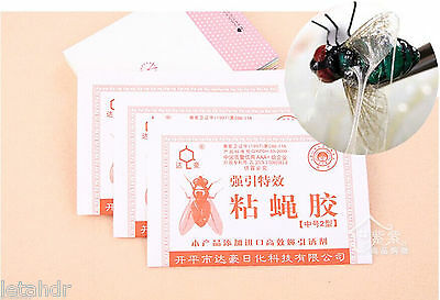 10/50pc Super Sticky Fly Paper Killer Trap Catcher Mosquito Insects Pest Sticker