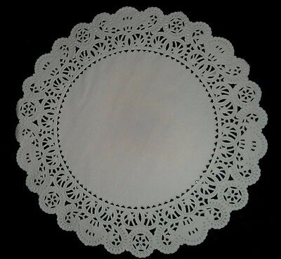 "(75) 10"" Round White French Lace Paper Doily Doilies Party Decoration Inches"