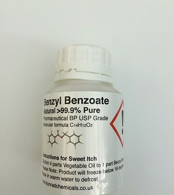 100ml Benzyl Benzoate 99.9%  Pure