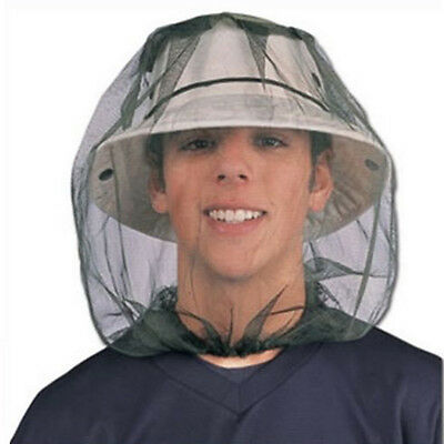 Mosquito Insect HEAD NET Wasp Bug Hat Mesh Face Protector Travel Camping Fishing
