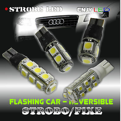 1 Ampoule T10 W5W Flick/Flack Strobo Reversible Pace Car Veilleuse Flash Led Car