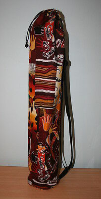 Hand made Aboriginal Print Yoga/Pilates Mat Bag with Adjustable Carry Strap