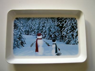 Peek Freans Biscuits Winter Snowman Serving Tray
