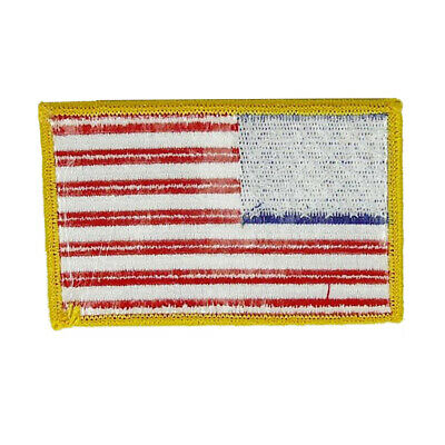 American Flag Patch Golden Border Embroidered Usa United Status Us Seller