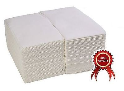 ChefLand (100 Pack) Linen-Feel Guest Towels / Disposable Cloth-Like Tissue Pa...