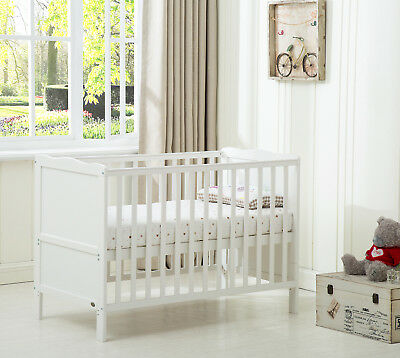 MCC Wooden Baby Cot Bed Toddler Bed Water repellent Mattress