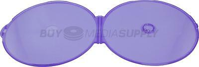 5mm Purple Color Clamshell CD/DVD Case - 400 Pack