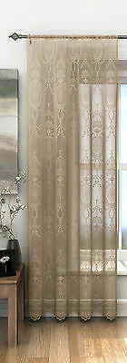 Holly Lace Panels Vintage Style Net Curtain ,Voile .