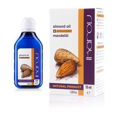 IKAROV 100% Pure Natural Essential Almond Oil 55ml - for skin, hair, nails