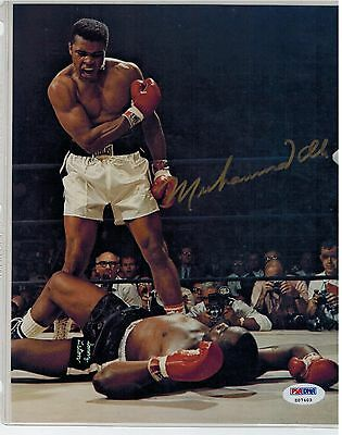 Muhammad Ali signed 8x10 vs. Liston PSA/DNA autograph