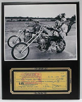 Peter Fonda Easy Rider Actor Reproduction Signed Limited Edition Check  Display