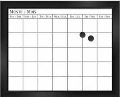 Board Dudes 18 x 22 Inch Magnetic Dry Erase Calendar English/Spanish