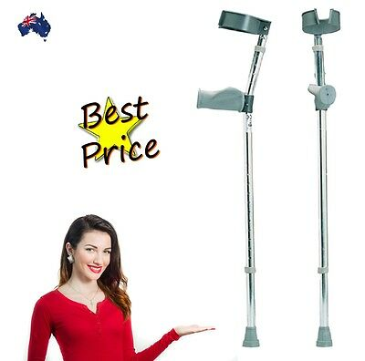 Invacare Pair of Ergonomic Anatomical Elbow Crutches Top Quality! RRP $69