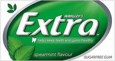 Wrigley's EXTRA SPEARMINT FLAVOUR SUGARFREE CHEWING GUM BulkBox 24x14pcs Green