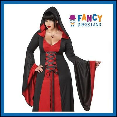 Adult Womens Plus Size Deluxe Red Sorceress Halloween Costume