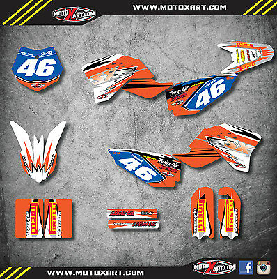 KTM 50 SX 2009 - 2015 Full  Custom Graphic  Kit - SHOCKWAVE - decals stickers