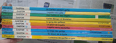 Lot 10 album BD Gaston Lagaffe