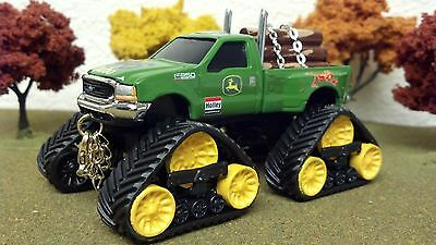 1/64 Custom Lifted, JOHN DEERE, FORD, F350, SUPER DUTY, ERTL, QUAD TRAC