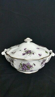 Hammersley Victorian Violets Pattern Covered Vegetable