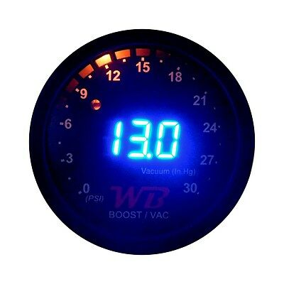 APSX B2 Digital Boost Display Gauge (Blue)