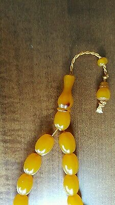 Amber Bakelite   Faturan Prayer Beads 33+1  Full Super  Ottoman Rare Old