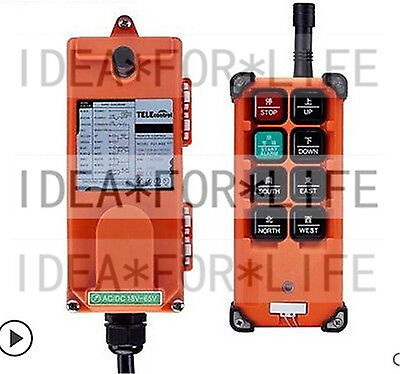 Transmitter+ Receiver Hoist Crane Radio Wireless Remote Control F21E1B #D1280 LV