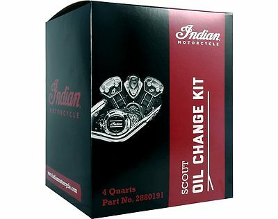 Genuine Indian Scout Motorcycle Oil Change Kit 15W-60 - 4.0 Qt