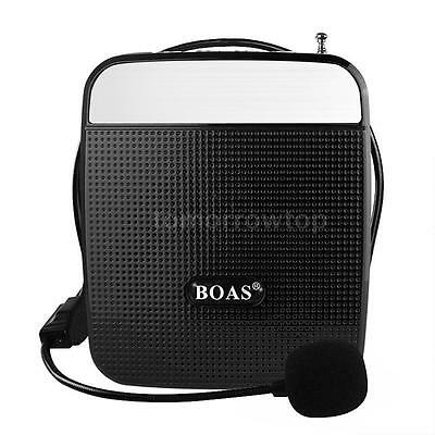 55W Portable Waistband Voice Booster Amplifier Loudspeaker FM w/ Microphone D5S7