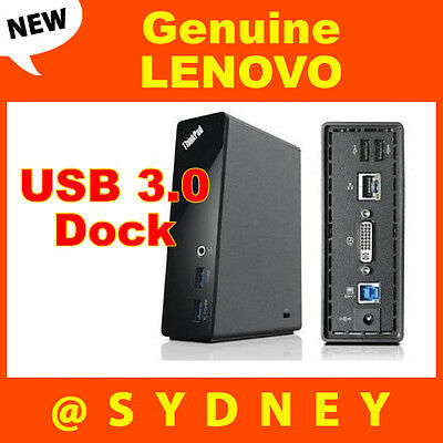 New LENOVO ThinkPad Basic USB 3.0 Dock - Universal Port Replicator 4X10A06692