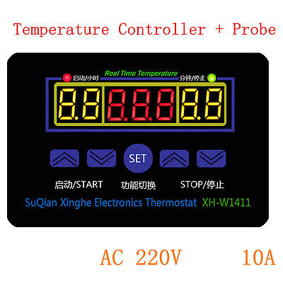 NEW 220V 10V Digital LED Temperature Controller Thermostat Control Switch+Probe