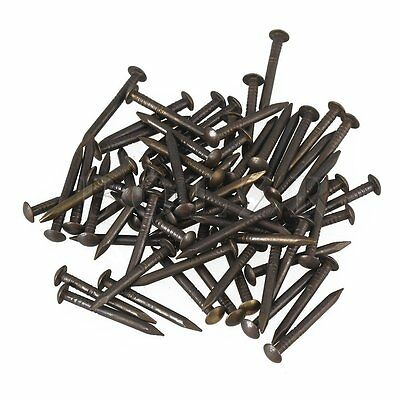 50pcs Black 22x2mm Antique Pure Copper Hardware Screw Nail with Washer Head