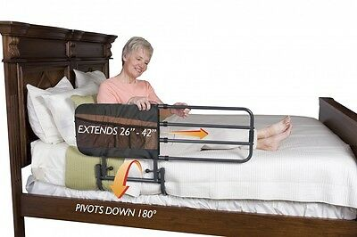 Able2 EZ Adjustable Bed Rail with Pouch & Fold Down Feature for when Not in Use