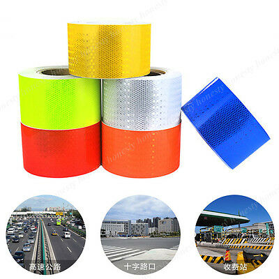 7 Color Reflective Safety Warning Conspicuity Tape Film Sticker Cars 30CM 3M 5M