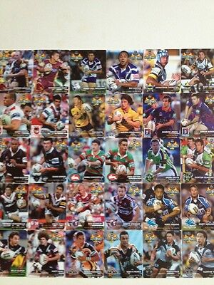 Rare Complete Set Of 2006 Common Hot Shots NRL Tazos Mint Condition