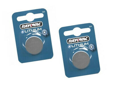 2 x RAYOVAC 2016 BATTERY LITHIUM 3V BUTTON COIN CELL CR2016 DL2016 ECR2016