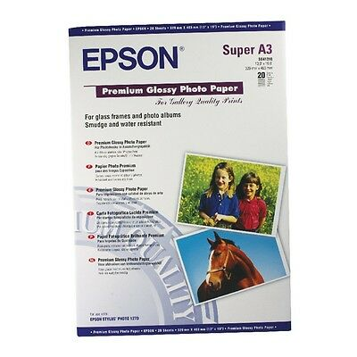 Epson A3+ Premium Glossy Photo Paper 255Gsm 20 Sheets - C13S041316