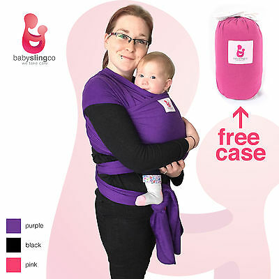 Baby Sling Stretchy Wrap Carrier Breastfeeding Newborn Birth 3Yr