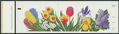 "#2764b ""SPRING FLOWERS"" BOOKLET WITH BLACK OMITTED MAJOR ERROR HW771"