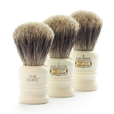 Simpsons 'The Duke' Pure Badger Hair Shaving Brush