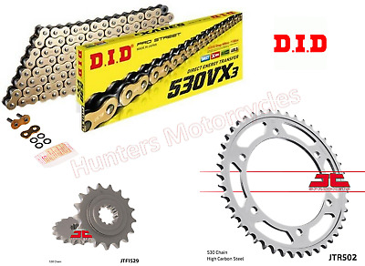 Kawasaki ZRX1100 DID Gold X-Ring Chain & JT Sprocket Kit Set