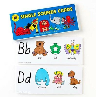 ABC Single Sounds Cards Literacy Teaching Education Learning Kids