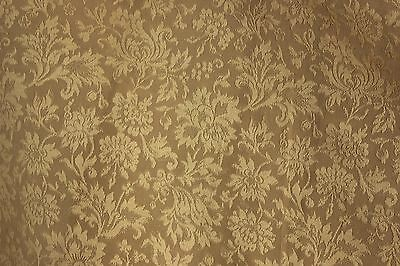 Vintage French silk damask woven heavy weight upholstery fabric old material