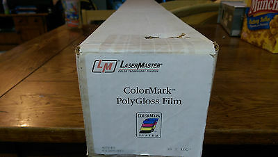 "ColorMark PolyGloss Film - Gloss Wide Format Paper for Aqueous Inks 36"" x 100'"