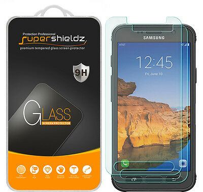 2x Supershieldz® Tempered Glass Screen Protector For Samsung Galaxy S7 Active