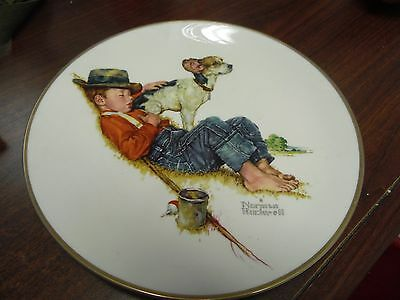 Norman Rockwell 1971 Boy And Dog Plate