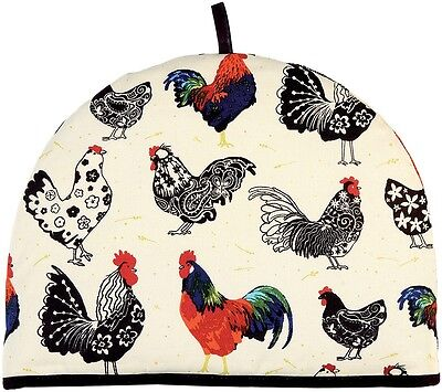 Ulster Weavers UK Rooster Tea Cosy Cozy Cozie Cosie Country Kitchen Black White