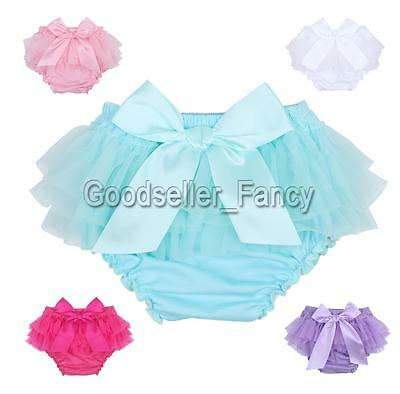 Baby Infant Girls Tulle Ruffles Chiffon Bloomers Panty Briefs Diaper Nappy Cover