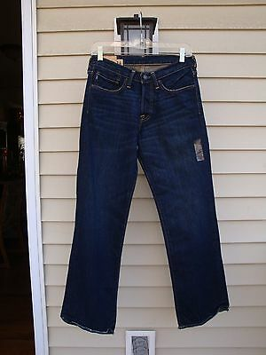 Boys Abercrombie & Fitch Kilburn Low Rise Boot Cut Stonewash Jeans - Sz 14
