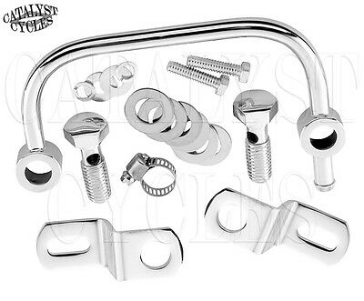 Crankcase Breather Bracket with Harley Air Cleaner Support & Breather Bolts